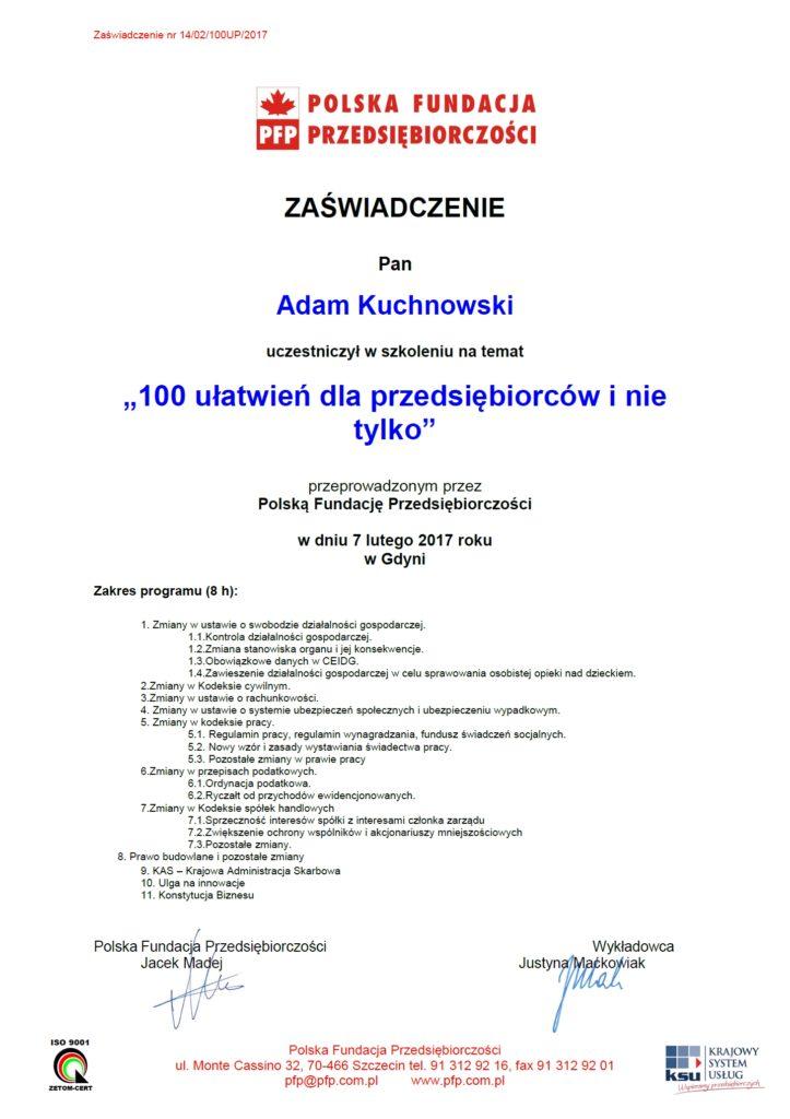 100 ułatwień dla przedsiębiorców - Biuro rachunkowe Gdynia