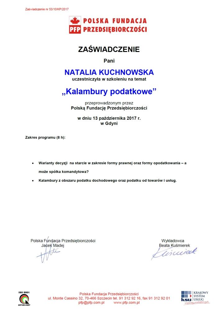 Kalambury podatkowe - Biuro rachunkowe Gdynia