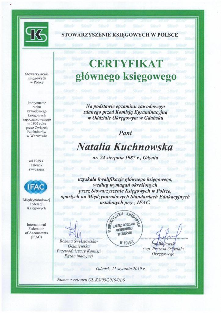 Certyfikat Głównego Księgowego SKwP