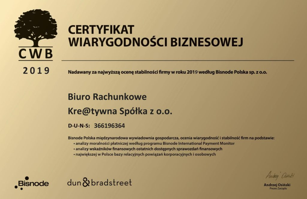Certyfikat-Wiarygodności-Biznesowej-2019-Kre@tywna